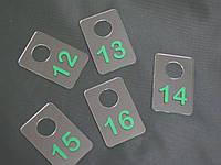 Номерки для гардеробов 40*60 мм зеленый
