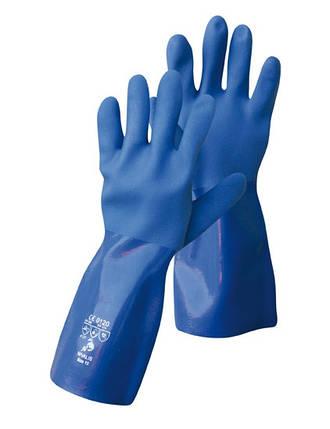 Перчатки кислотостойкие (КЩС) синие, фото 2
