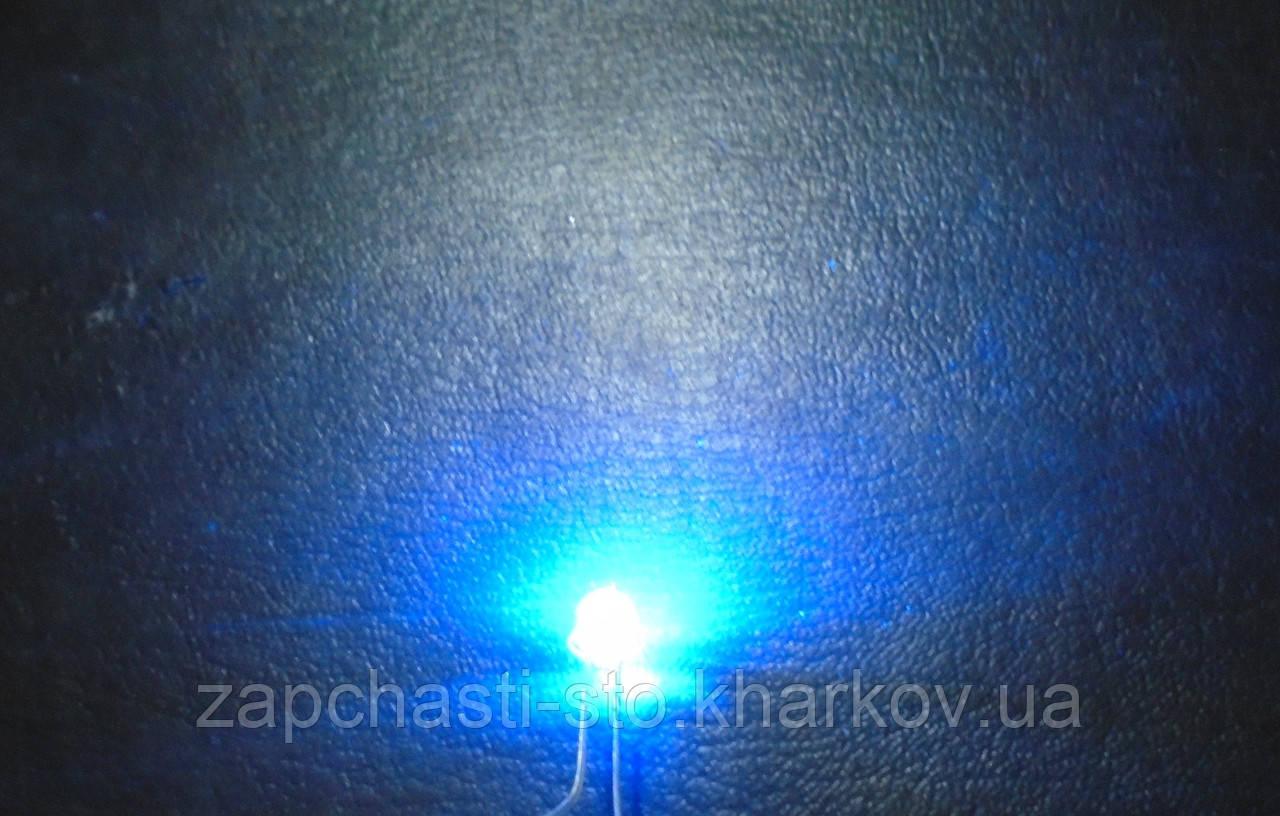 LED светодиод синий 4.8мм 120°, 3.5В, одноцветный яркий