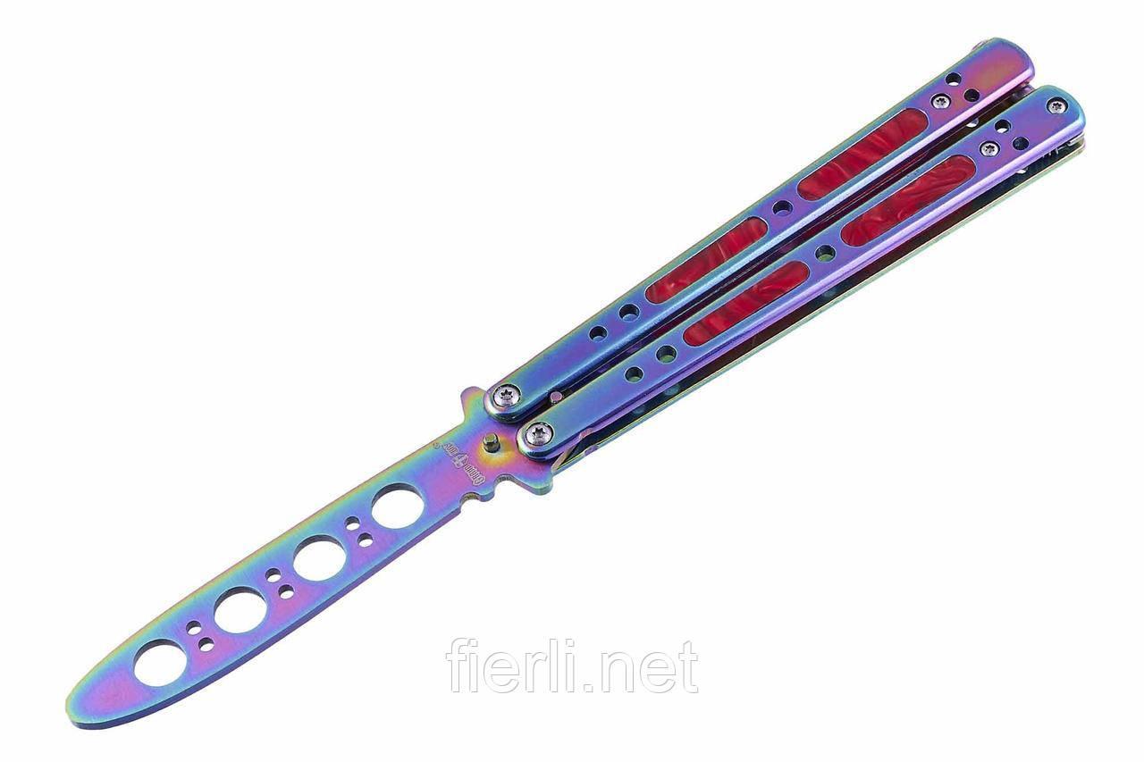 Нож бабочка балисонг 06-C Тренировочный, без заточки