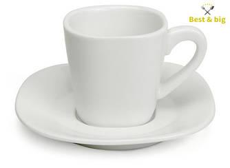 Кофейная пара чашка Madrid - 80 мл и блюдце Madrid - 11 см (Exxent)