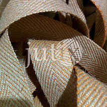 Декоративная лента (джутовая), 42 мм, V-узор., фото 3