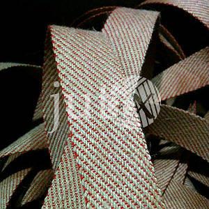 Декоративная лента (джутовая), 42 мм, S-узор. Красный