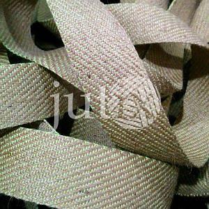 Декоративная лента (джутовая), 42 мм, S-узор. Салатовый