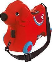 Каталка чемодан BIG с отделением для вещей Красная (0055350)