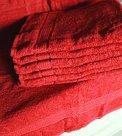 Махровое полотенце для лица 50х90 Бордо 100% хлопок Узбекистан