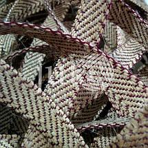 Декоративная лента (джутовая), 18 мм, Z-узор., фото 3