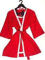 Комплект халат и пеньюар из вискозы, фото 1