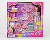 """Кукла """"Defa"""" 8049 беременная, с коляской, 2 вида, в коробке"""