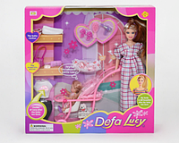 """Кукла """"Defa"""" 8049 беременная, с коляской, 2 вида, в коробке, фото 1"""
