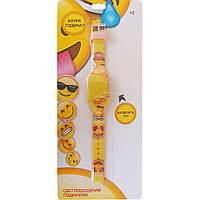 Часы светодиодные Emojis желто розовые TBL (EMJ30689)