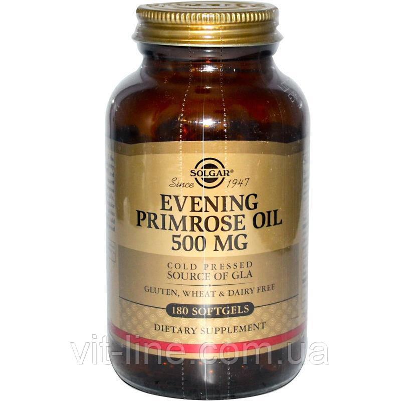 Solgar, Масло Энотеры, примула вечерняя 500 мг, 180 мягких таблеток