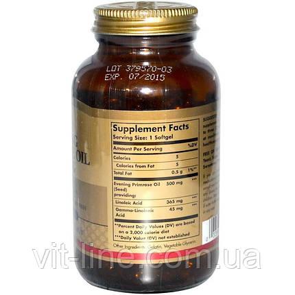 Solgar, Масло Энотеры, примула вечерняя 500 мг, 180 мягких таблеток, фото 2
