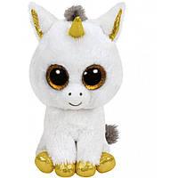 Beanie Boos Белый единорог Pegasus 15см TY (36179)