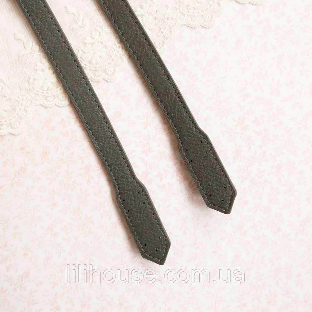 """Ручки для сумки """"Кордова"""" - 60 см, серо-зеленые"""