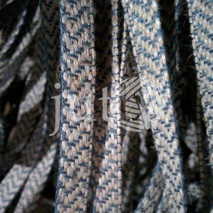 Декоративная лента (джутовая), 10 мм, V-узор. Серый, фото 2