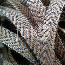 Декоративная лента (джутовая), 12 мм, V-узор., фото 3