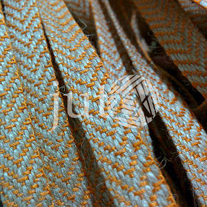 Декоративная лента (джутовая), 12 мм, V-узор. Оранжевый