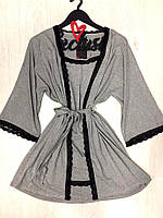 Халат с пеньюаром комплект женский, фото 1