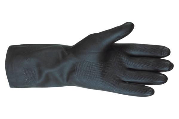 Перчатки кислотостойкие (КЩС) SUN черные, фото 2