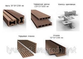Террасная доска из древесно полимерного композита Legro
