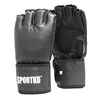 Битки с открытыми пальцами из кожвинила Sportko (ПД-5)