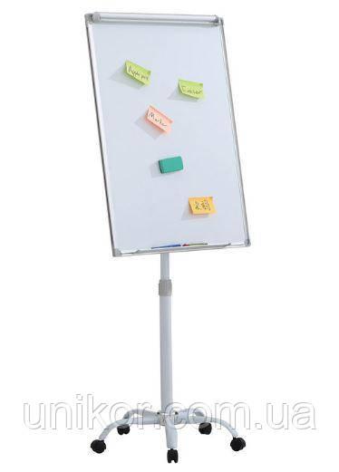Флипчарт магнитно-маркерный мобильный на роликах, 70*100 см. AXENT