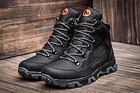 Кожаные мужские зимние ботинки Merrell ,чёрные