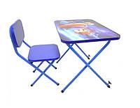 Детская парта со стульчиком Ommi Турбо Синяя