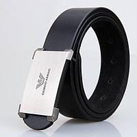 Ремень мужской Giorgio Armani 3006 Черный