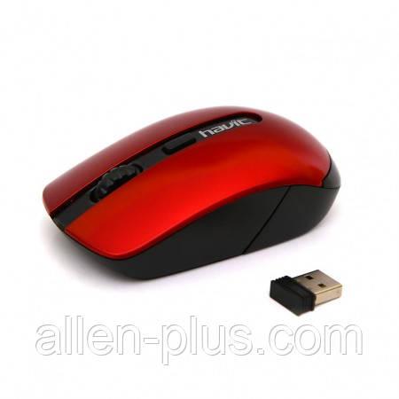 Мышь беспроводная HV-MS989GT (1600 DPI) Wireless USB, black/red