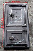 Дверка печная чугунная 260х480 мм., фото 1
