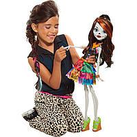 "Кукла монстер хай Скелита Калаверас путешествие в Скариж Monster High 28"" Beast Freaky Friend, Skelita"