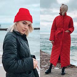 Стеганное женское пальто 2017-18