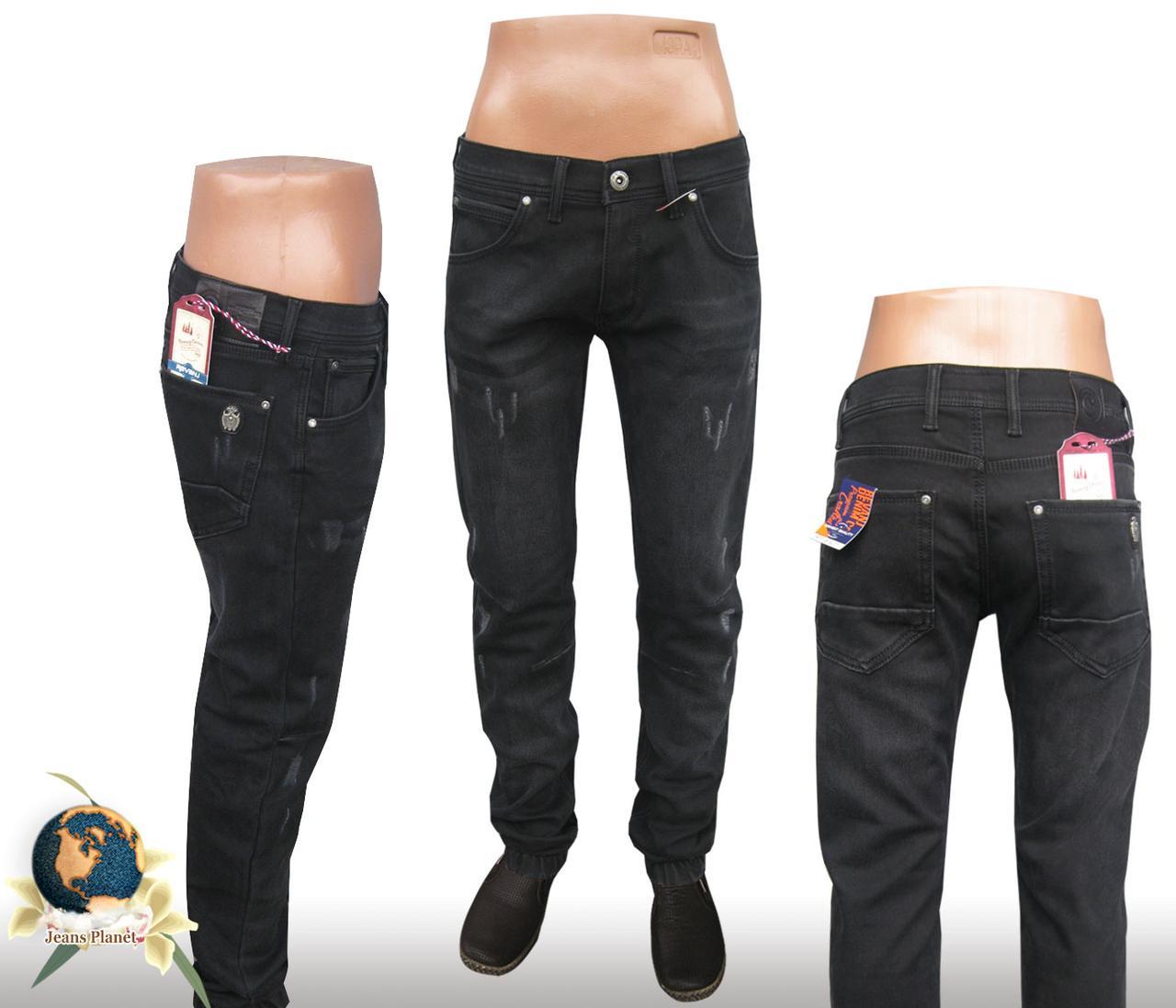 1c8fb8bf7e7 Джинсы мужские утеплённые чёрные Revanj низ на резинке 34 размер - Jeans  Planet -джинсовая одежда
