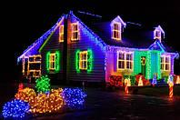 Светодиодная гирлянда: LED эволюция цвета и света.