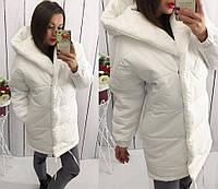 Женская тёплая куртка зефирка (плащевка+синтипон 250)