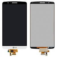 Дисплей (экран) для LG D855 G3/D858/D859 + с сенсором (тачскрином) белый Оригинал