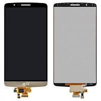 Дисплей (экран) для LG D855 G3/D858/D859 + с сенсором (тачскрином) золотистый