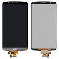 Дисплей (экран) для LG D855 G3/D858/D859 + с сенсором (тачскрином) серый