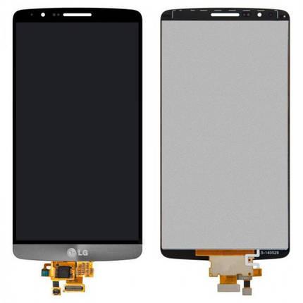 Дисплей (экран) для LG D855 G3 з сенсором (тачскріном) серый, фото 2