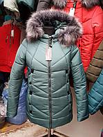 Женская куртка большого размера, зимняя