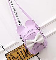 """Веселый рюкзак с ушками """"Микки Lilac"""", фото 1"""
