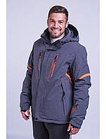 Мужская горнолыжная куртка Avecs, серый Р. M XL XXL