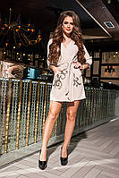 Элегантное  платье-халатик с пайетками