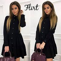 Черное свободное платье тв-11014-2