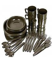 Mil-Tec Набор столовый на четыре персоны TELLER (26 предметов) оливка 14687000