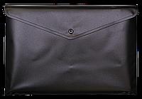 Папка-конверт А4 на кнопці JOBMAX, чорний