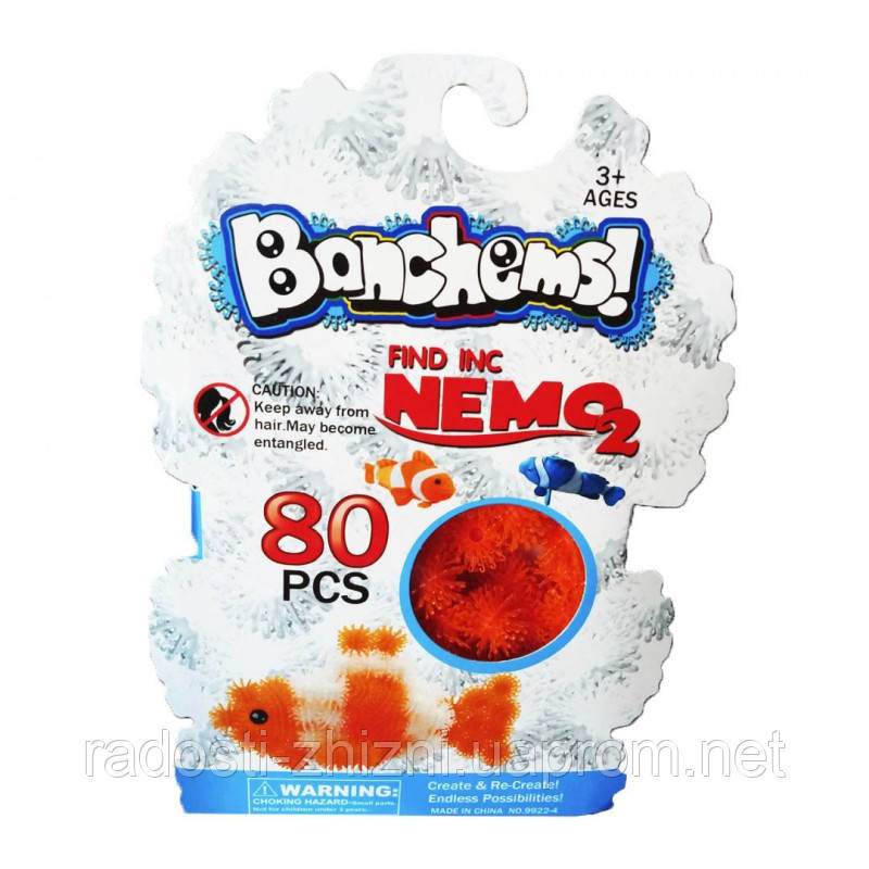 Конструктор-липучка Bunchems Nemo 80+ деталей