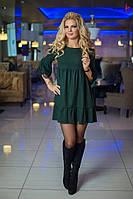 Платье изящное кружево и модный принт. Длина 85-86 см. Ткань: Турецкий трикотаж бис №7637